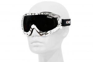 KIMO Kinder MX Brille weiß/schwarz